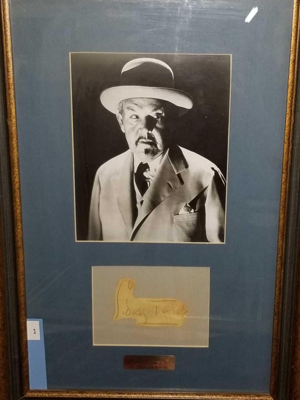 SIDNEY TOLER FRAMED & MATTED PHOTO & AUTOGRAPH