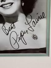Lot 13: PIPER LAURIE SIGNED PHOTO FRAMED