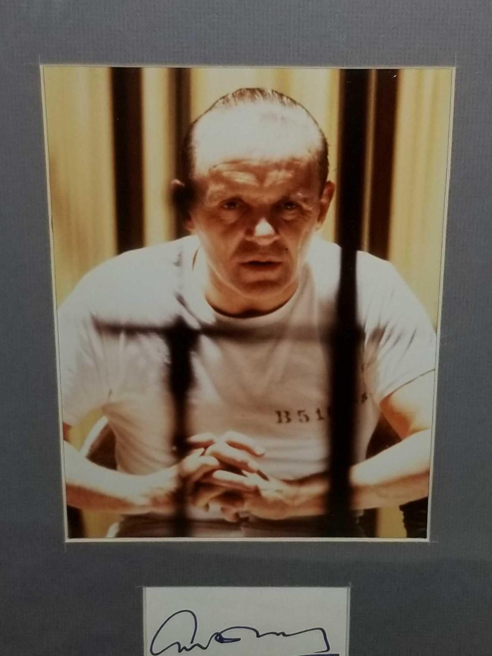 Lot 4: SIR ANTHONY HOPKINS FRAMED & MATTED PHOTO & SIGNATURE