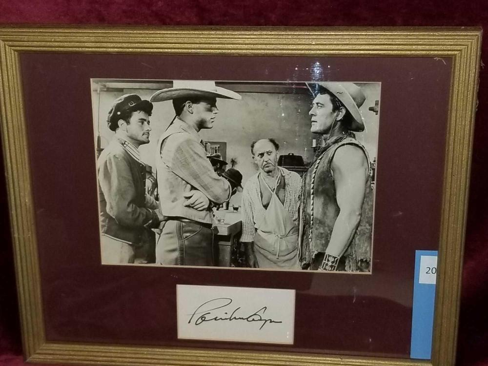 PATRICK WAYNE SIGNED MOVIE STILL FRAMED