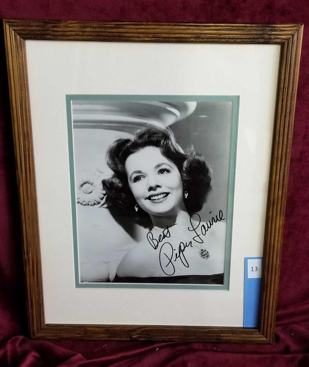 PIPER LAURIE SIGNED PHOTO FRAMED