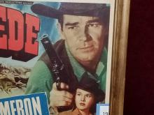 """Lot 19: """"STAMPEDE"""" MOVIE LOBBY CARD SIGNED BY ROD CAMERON"""