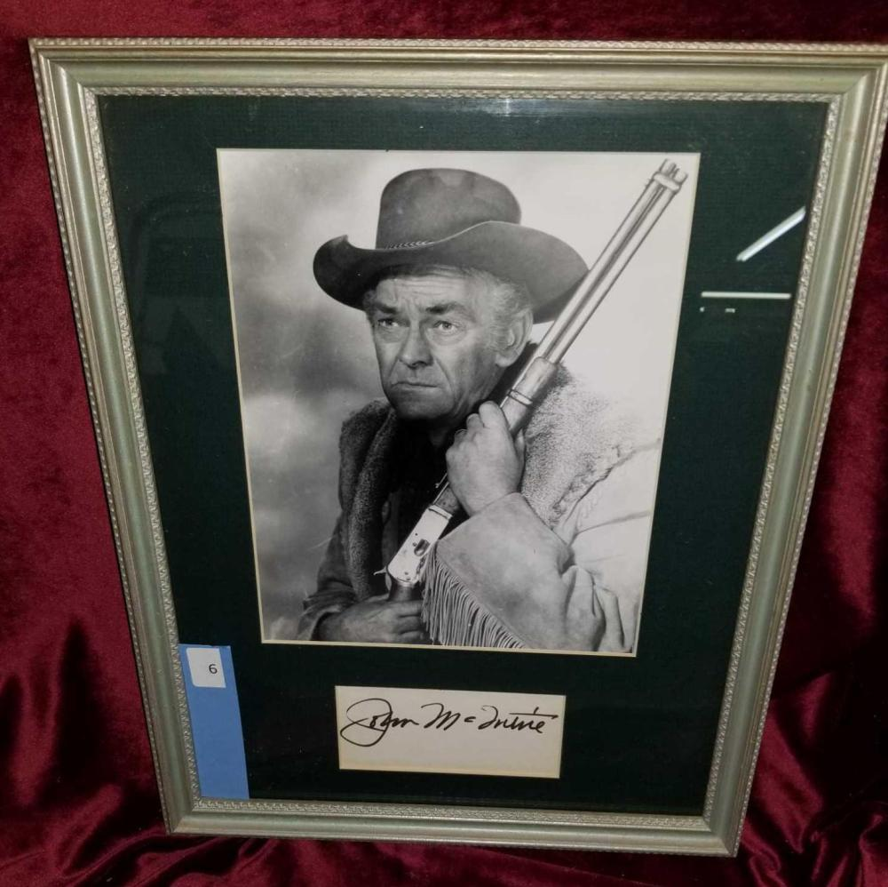 JOHN MC INTIRE WESTERN STAR FRAMED PHOTO & SIGNATURE