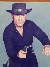 Lot 5: RICHARD BOONE FRAMED GUNFIGHTER PHOTO & SIGNATURE