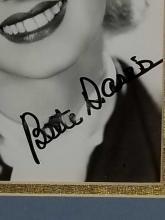 Lot 16: BETTE DAVIS SIGNED BLACK & WHITE PHOTO FRAMED