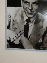 Lot 21: FRANK SINATRA SIGNED PHOTO