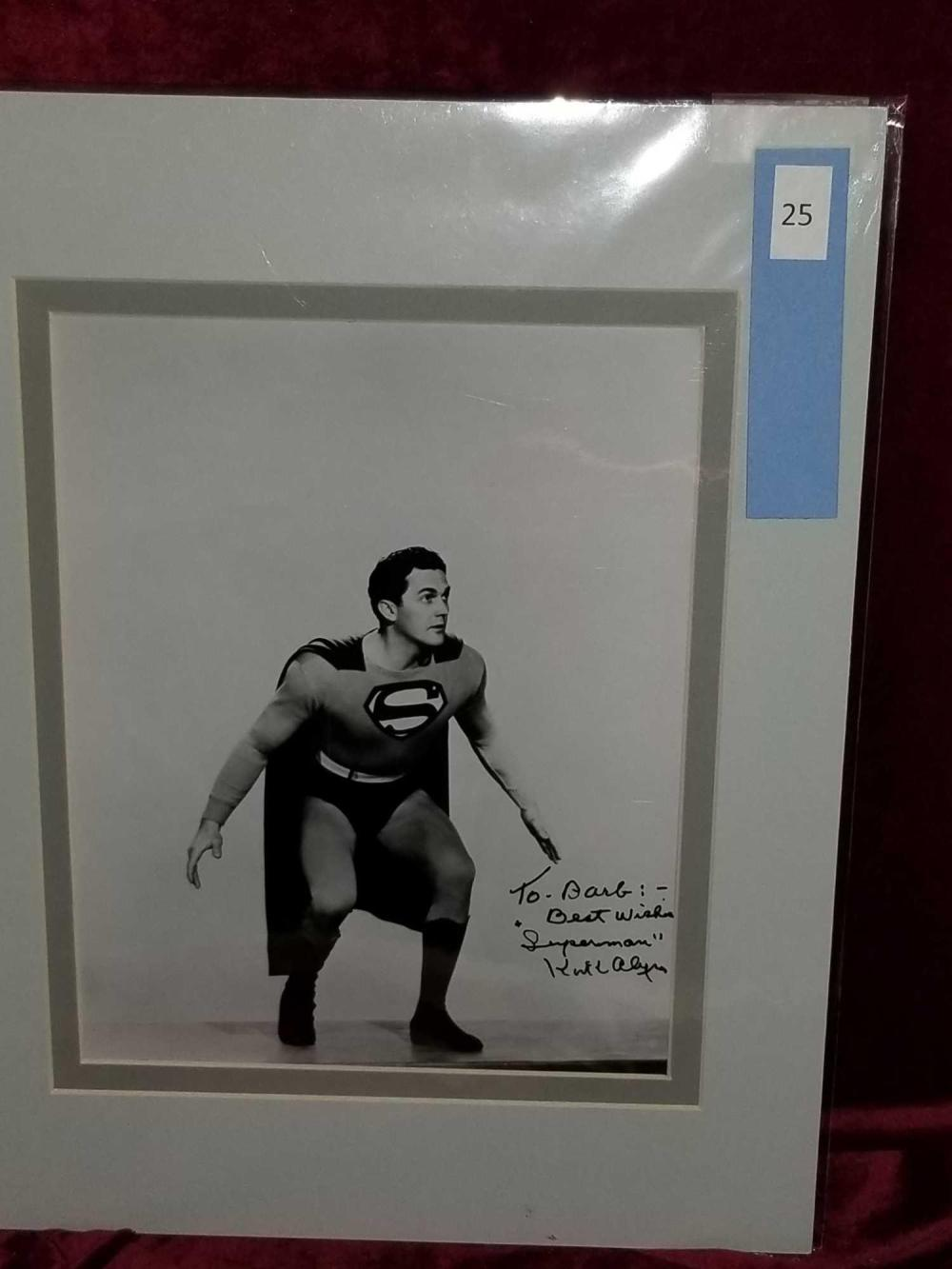 "KIRK ALYN ""SUPERMAN"" BLACK & WHITE SIGNED PHOTO"