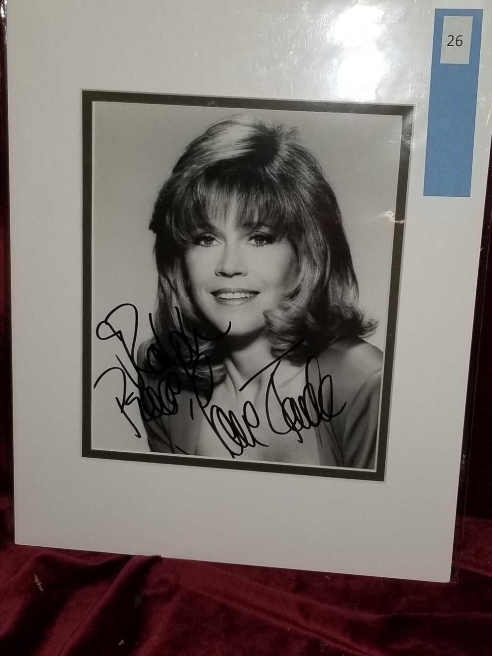 JANE FONDA AUTOGRAPHED BLACK & WHITE PHOTO