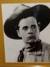 Lot 23: EDMUND COBB WESTERN STAR FRAMED PHOTO & SIGNATURE CARD