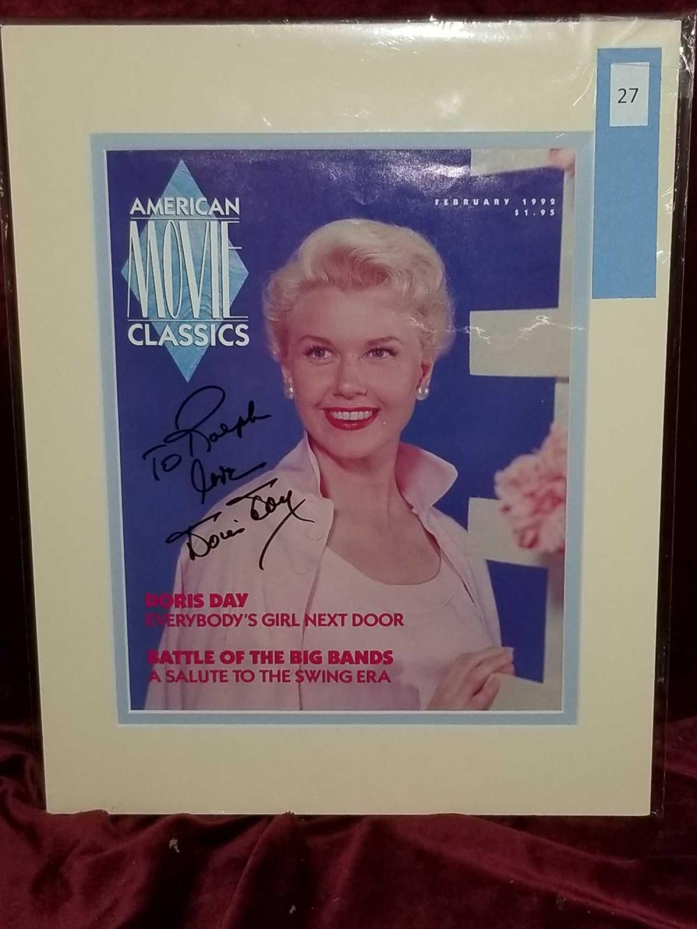 DORIS DAY SIGNED AMERICAN MOVIE CLASSICS MAGAZINE COVER FEB. 1992