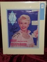Lot 27: DORISDAY SIGNED AMERICAN MOVIE CLASSICS MAGAZINE COVER FEB. 1992