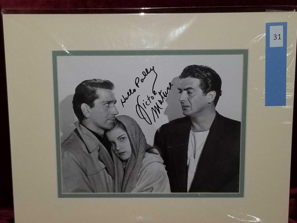 VICTOR MATURE BLACK & WHITE SIGNED PUBLICITY PHOTO