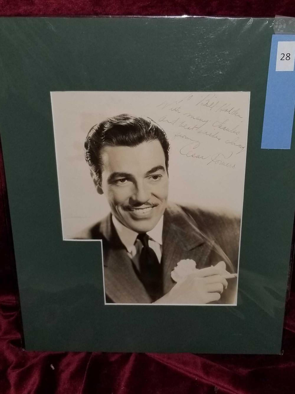 CESAR ROMERO AUTOGRAPHED BLACK & WHITE PHOTO