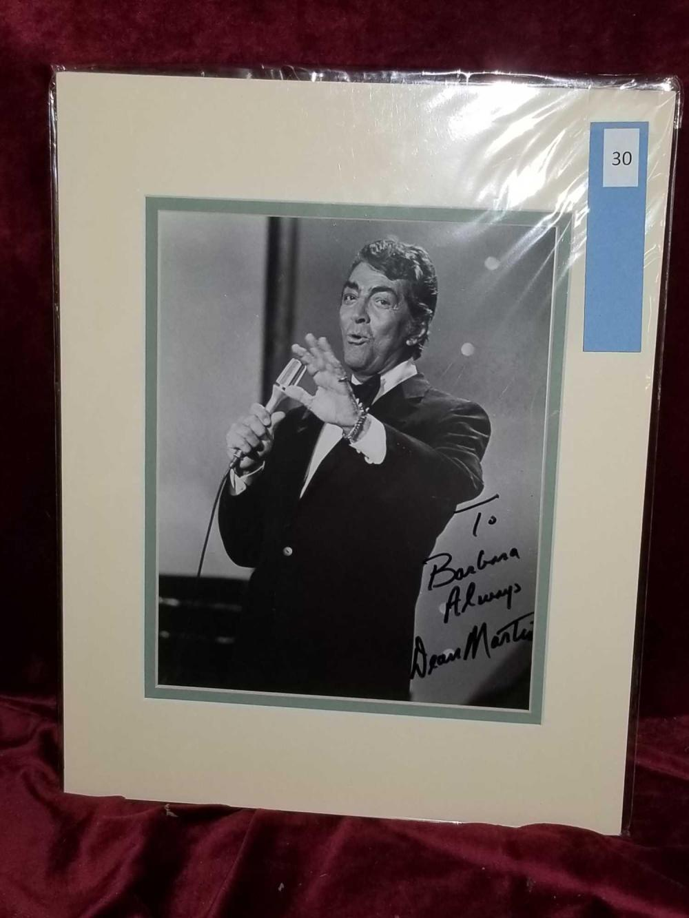 DEAN MARTIN SIGNED BLACK & WHITE PHOTO