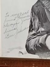 Lot 37: BEN JOHNSON BLACK & WHITE SIGNED WESTERN PHOTO FRAMED
