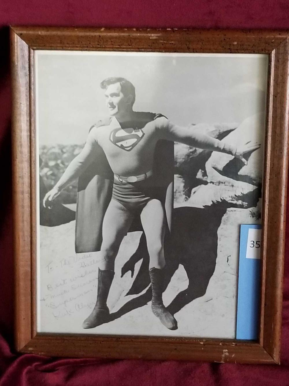 KIRK ALYN BLACK & WHITE SIGNED PHOTO FRAMED