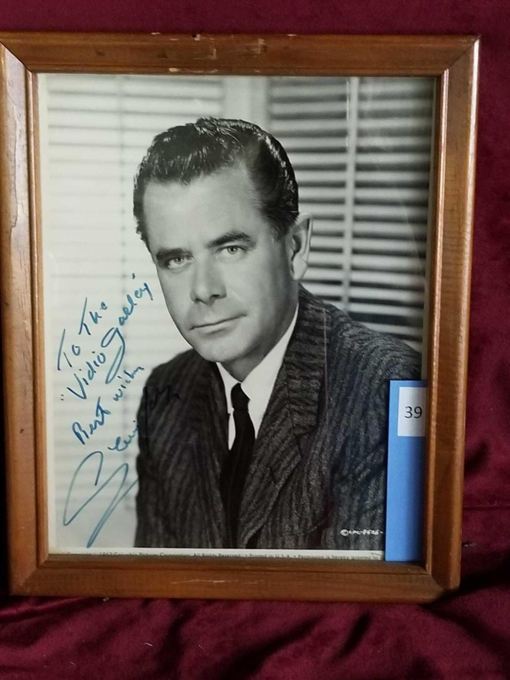 GLENN FORD BLACK & WHITE PUBLICITY PHOTO FRAMED