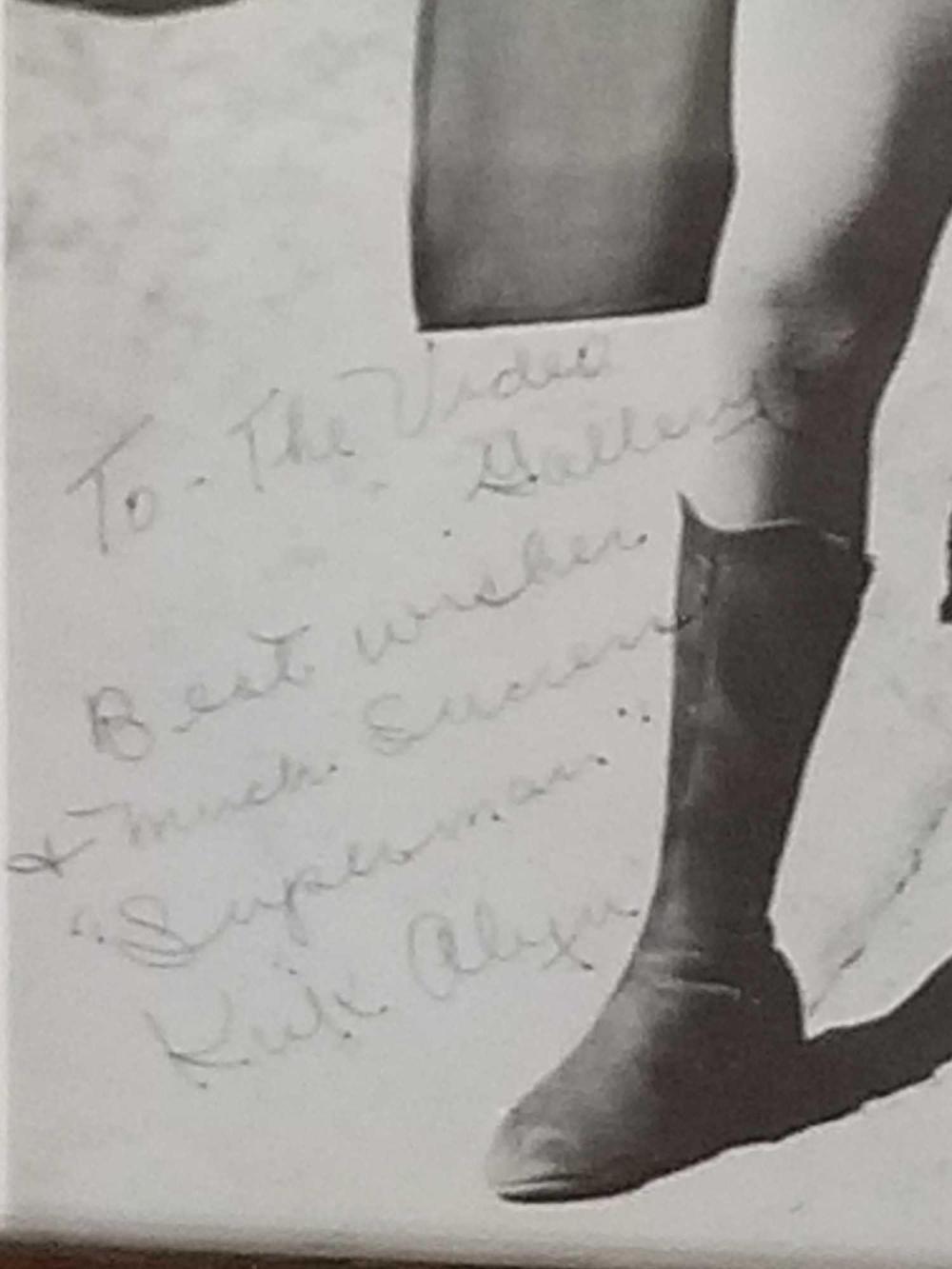 Lot 35: KIRK ALYN BLACK & WHITE SIGNED PHOTO FRAMED