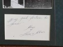 "Lot 36: ""ABNER"" OF LUM & ABNER BLACK & WHITE PHOTO W/ SEPARATE SIGNATURE CARD FRAMED"