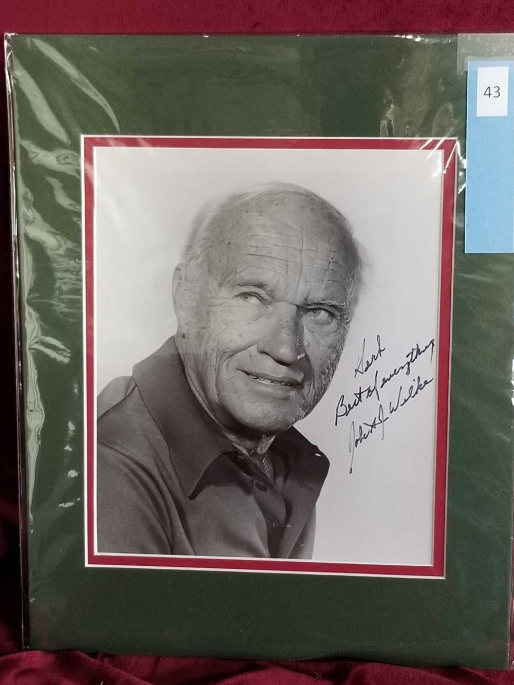 ROBERT J. WILKE HEAD SHOT BLACK & WHITE SIGNED PHOTO
