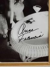 Lot 44: ANNE FRANCIS BLACK & WHITE SIGNED PHOTO