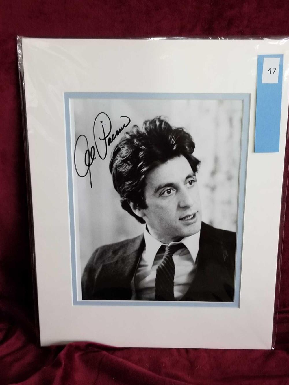 AL PACINO BLACK & WHITE SIGNED PHOTO
