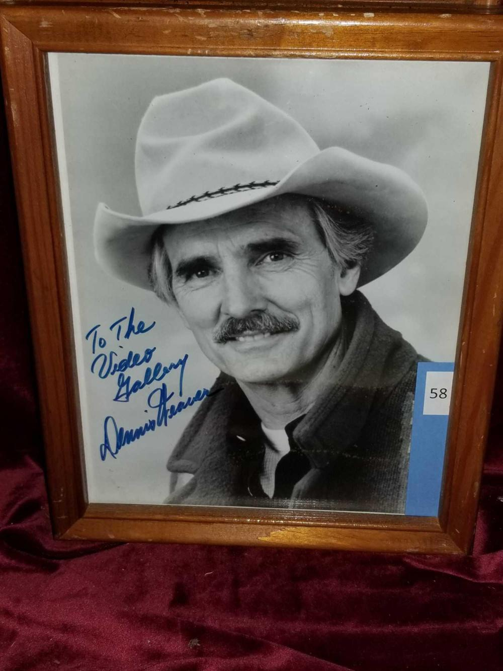 DENNIS WEAVER PUBLICITY PHOTO SIGNED