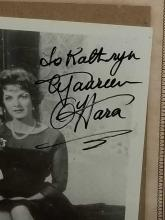 Lot 60: MAUREEN O'HARA BLACK & WHITE SIGNED PHOTO