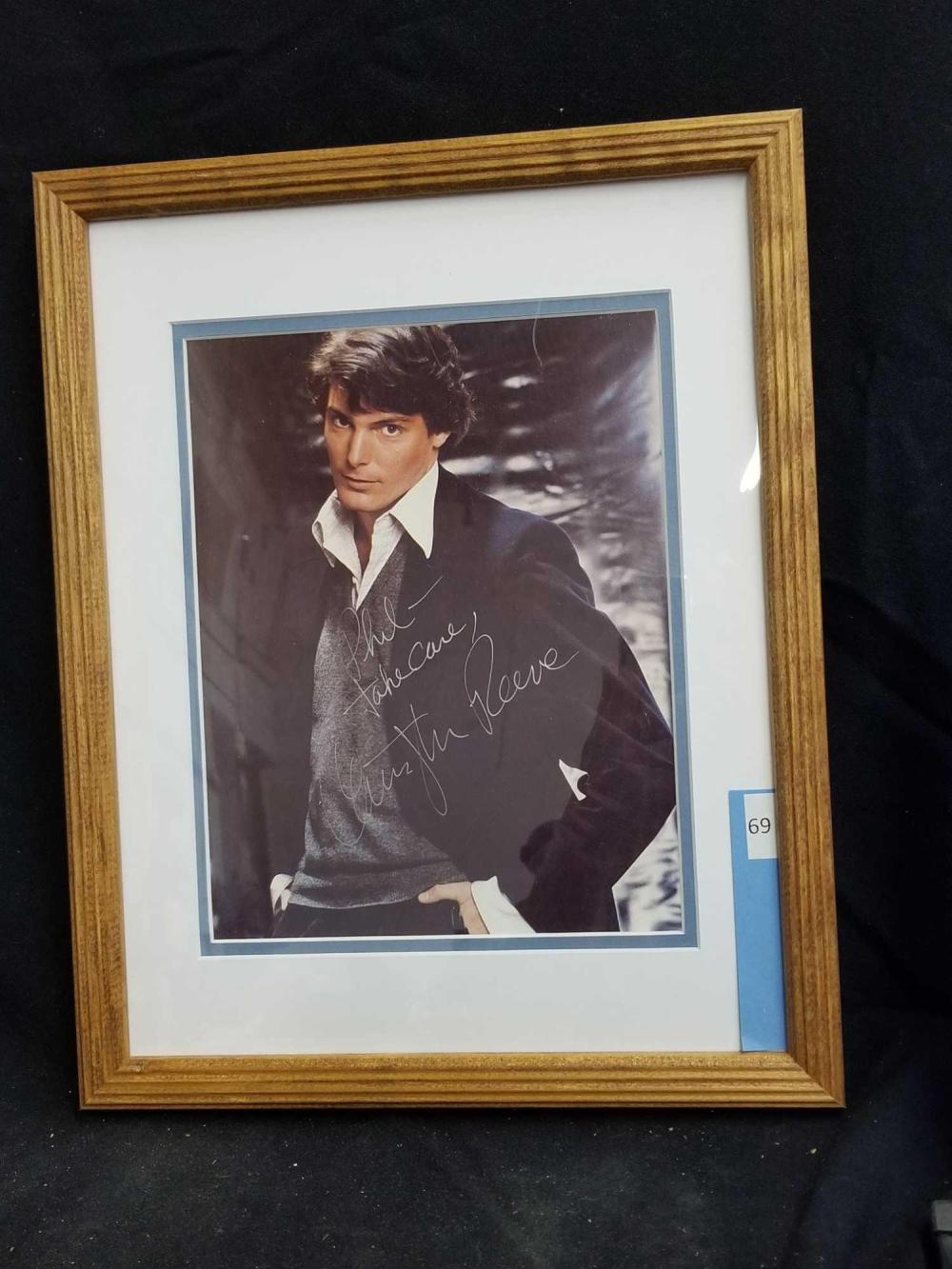 CHRISTOPHER REEVE COLOR SIGNED PUBLICITY PHOTO