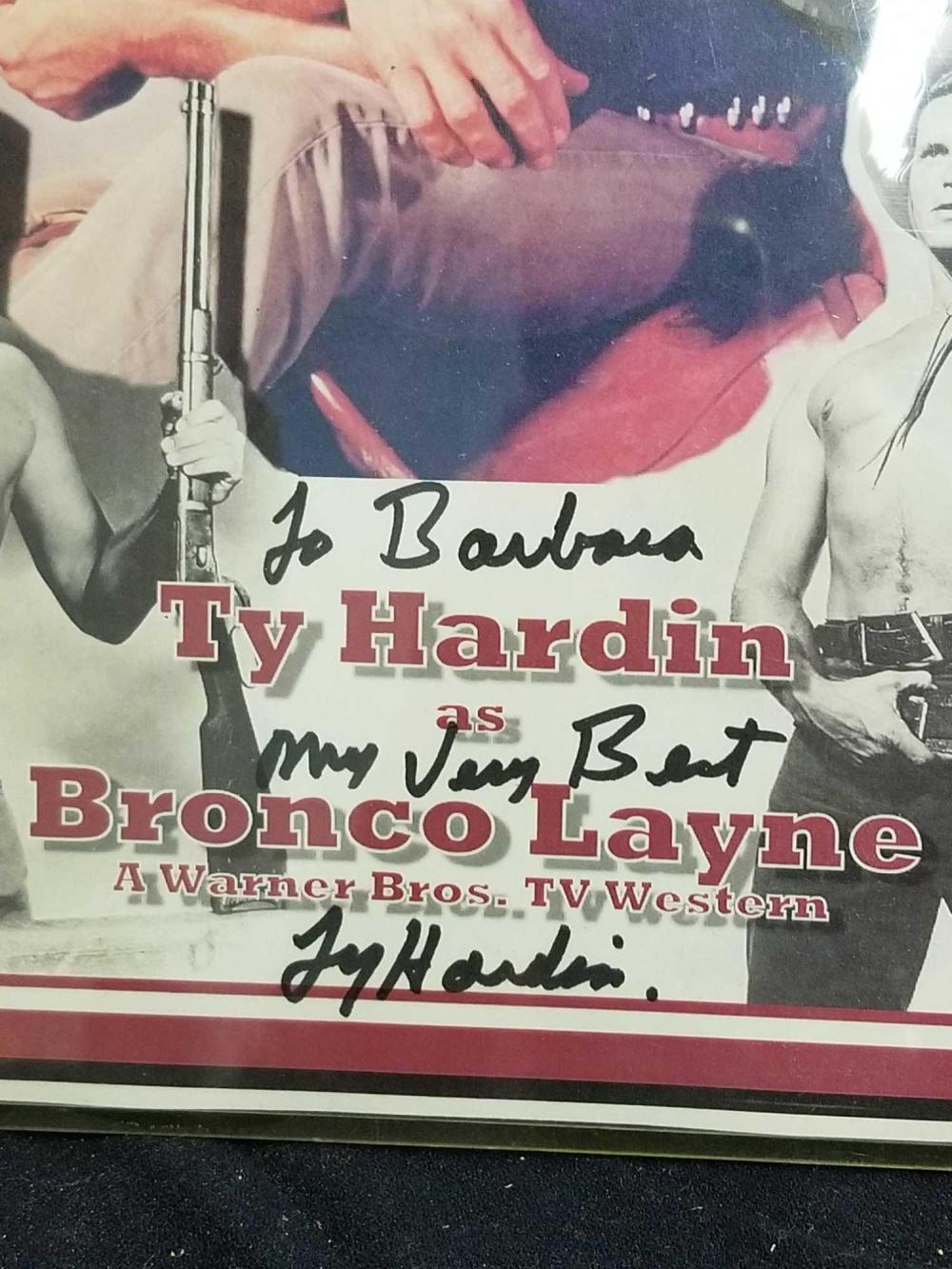 "Lot 68: TY HARDIN SIGNED & NUMBERED ""BRONCO LANE"" POSTER"