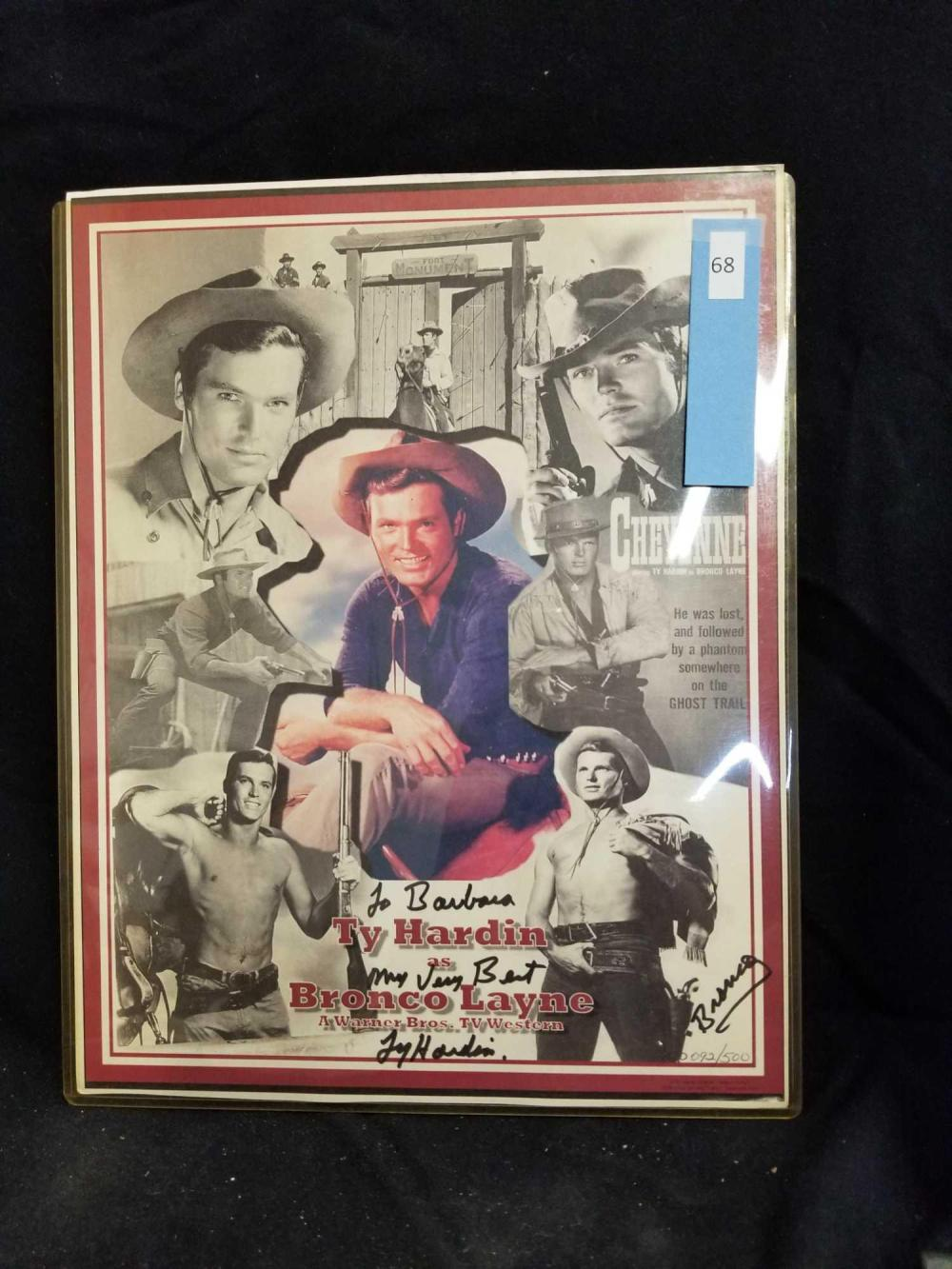 "TY HARDIN SIGNED & NUMBERED ""BRONCO LANE"" POSTER"