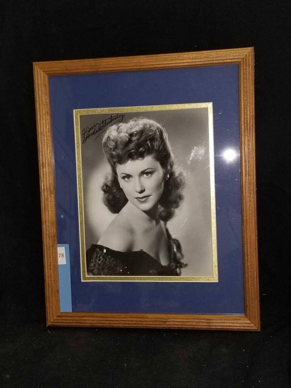 LINDA STIRLING SIGNED BLACK & WHITE PUBLICITY PHOTO
