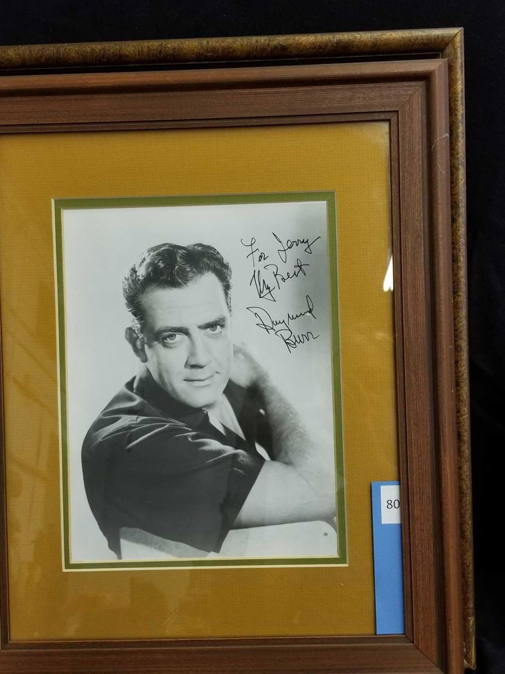 RAYMOND BURR BLACK & WHITE SIGNED PUBLICITY PHOTO