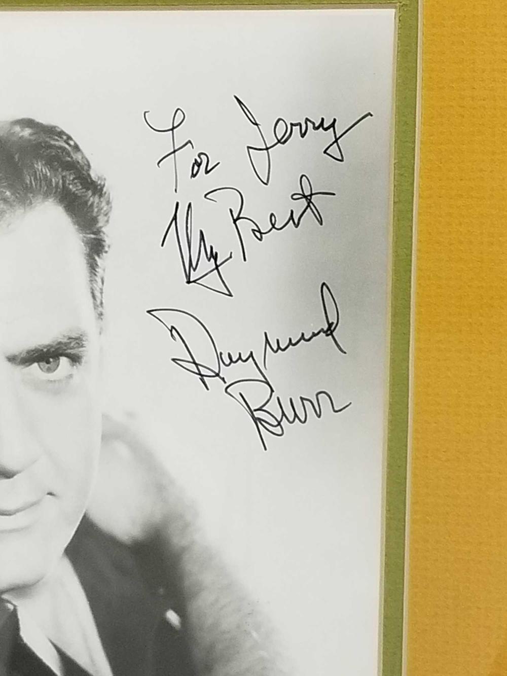 Lot 80: RAYMOND BURR BLACK & WHITE SIGNED PUBLICITY PHOTO