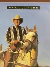 Lot 93: BEN JOHNSON SIGNED ROPER APPAREL AD