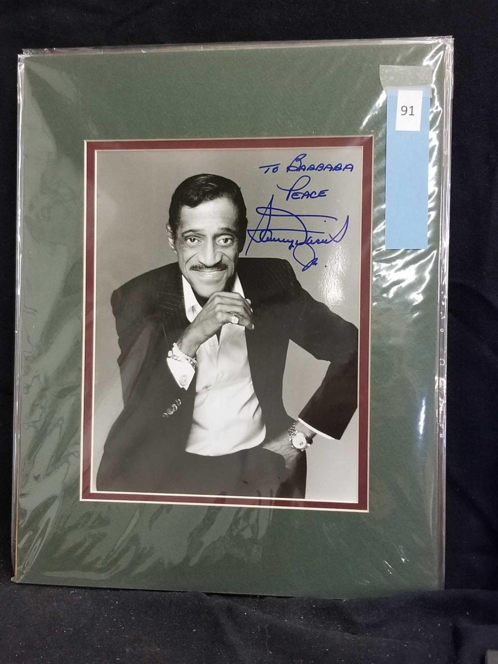 SAMMY DAVIS JR. BLACK & WHITE SIGNED PUBLICITY PHOTO