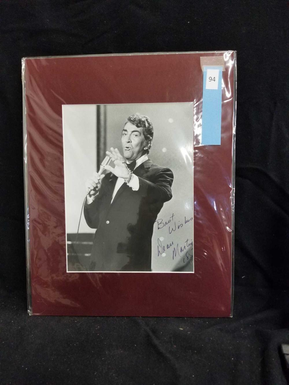 DEAN MARTIN BLACK & WHITE SIGNED PUBLICITY PHOTO