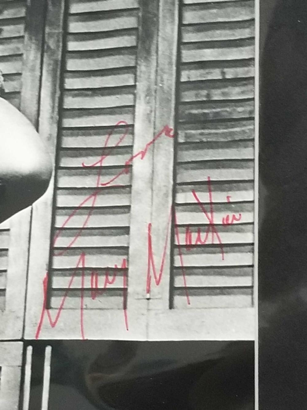 Lot 96: MARY MARTIN BLACK & WHITE SIGNED MOVIE STILL PHOTO