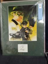 "Lot 101: VAN WILLIAMS ""GREEN HORNET"" SIGNED POSTER & AUTOGRAPH CARD"