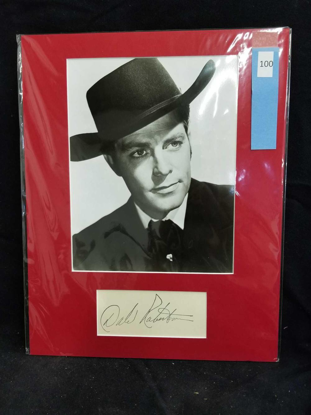 DALE ROBERTSON BLACK & WHITE PUBLICITY PHOTO & SIGNATURE CARD