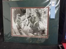 Lot 108: JOEY BISHOP & DEAN MARTIN DOUBLE SIGNED WESTERN MOVIE STILL PHOTO