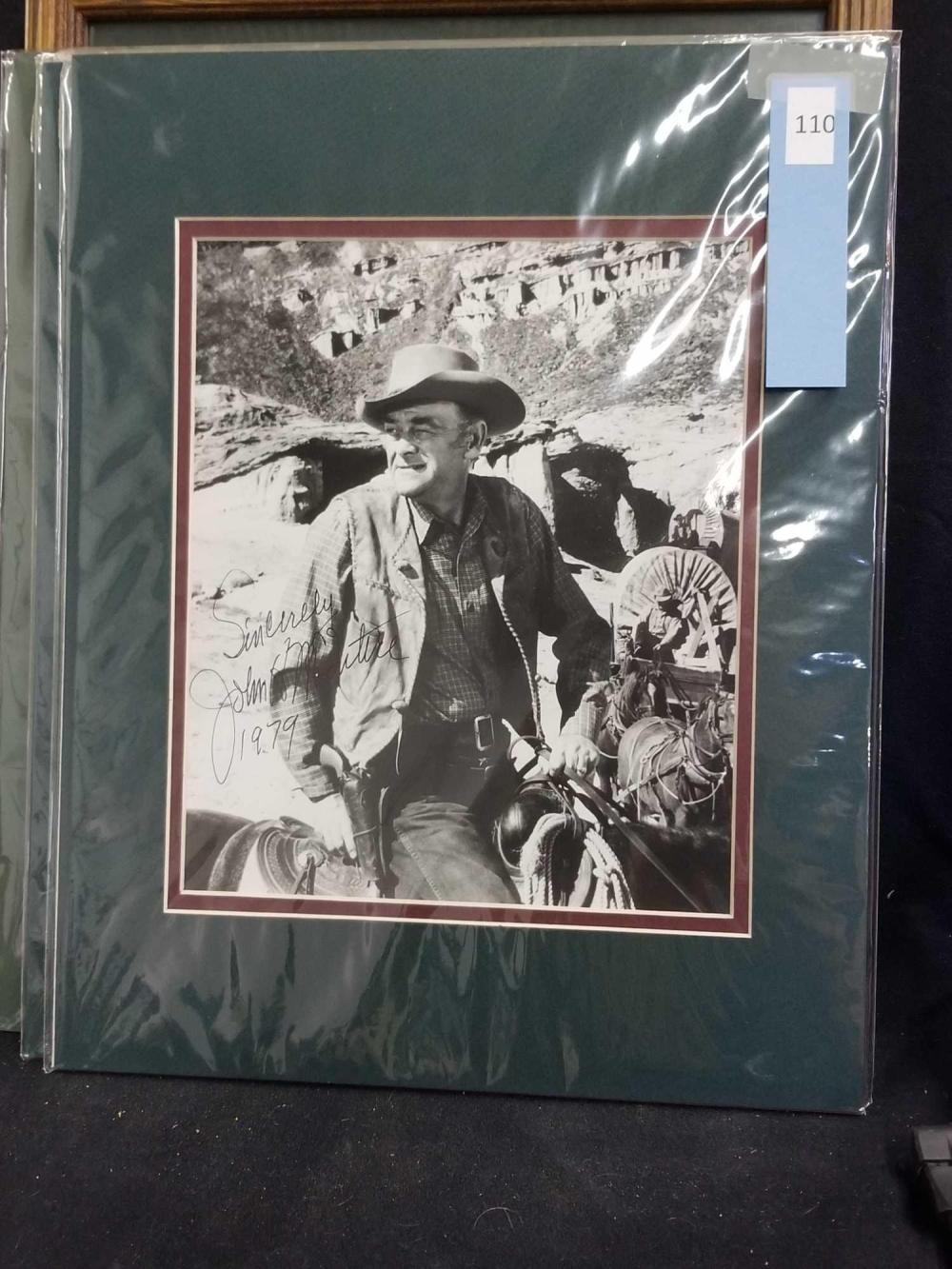 JOHN MC INTIRE SIGNED WESTERN MOVIE STILL PHOTO