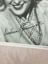 Lot 107: BARBARA STANWYCK SIGNED PUBLICITY PHOTO