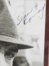 Lot 109: SEAN CONNERY SIGNED BLACK & WHITE PUBLICITY PHOTO