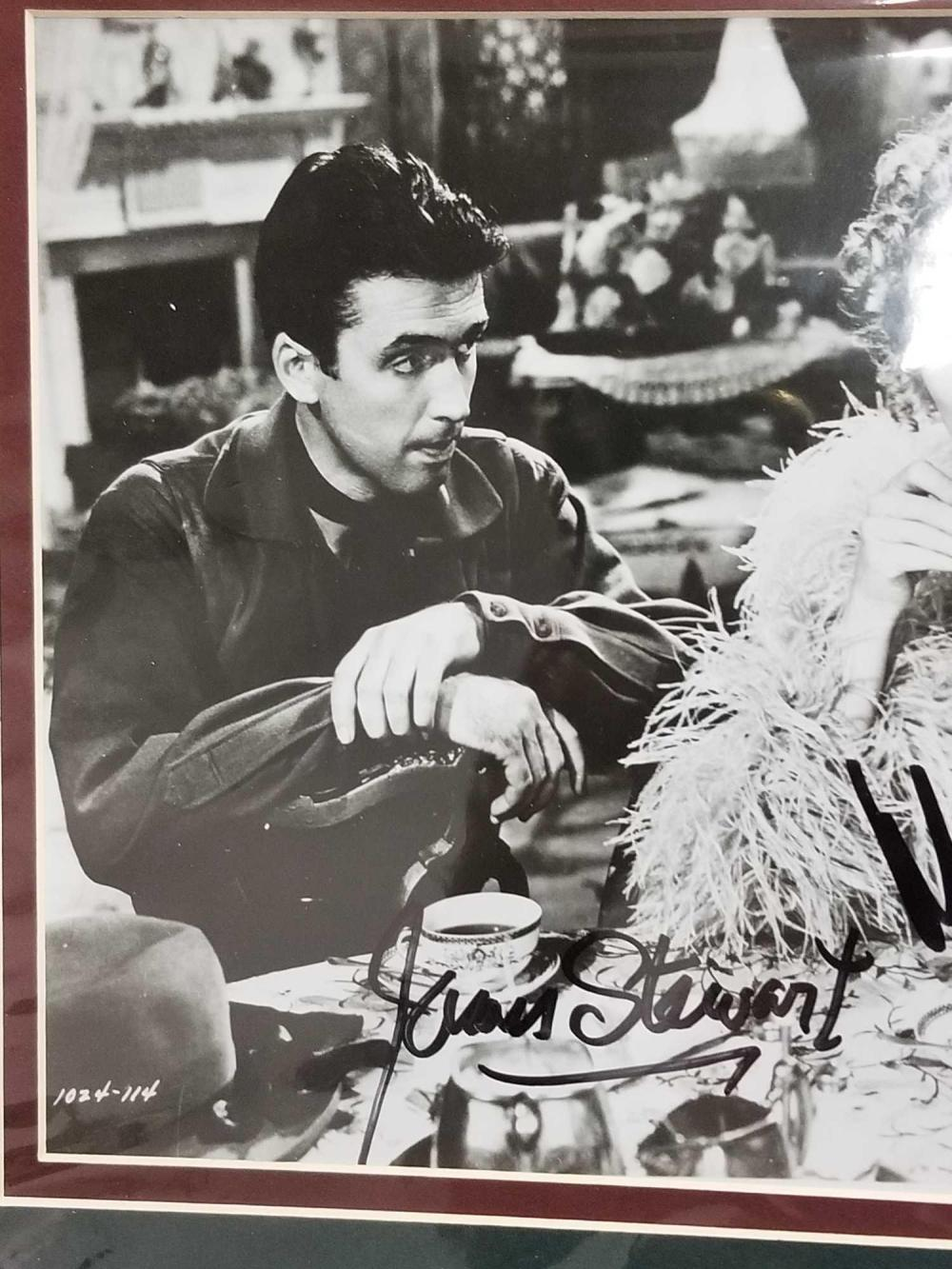 Lot 111: MARLENA DIETRICH & JAMES STEWART BLACK & WHITE SIGNED MOVIE STILL PHOTO