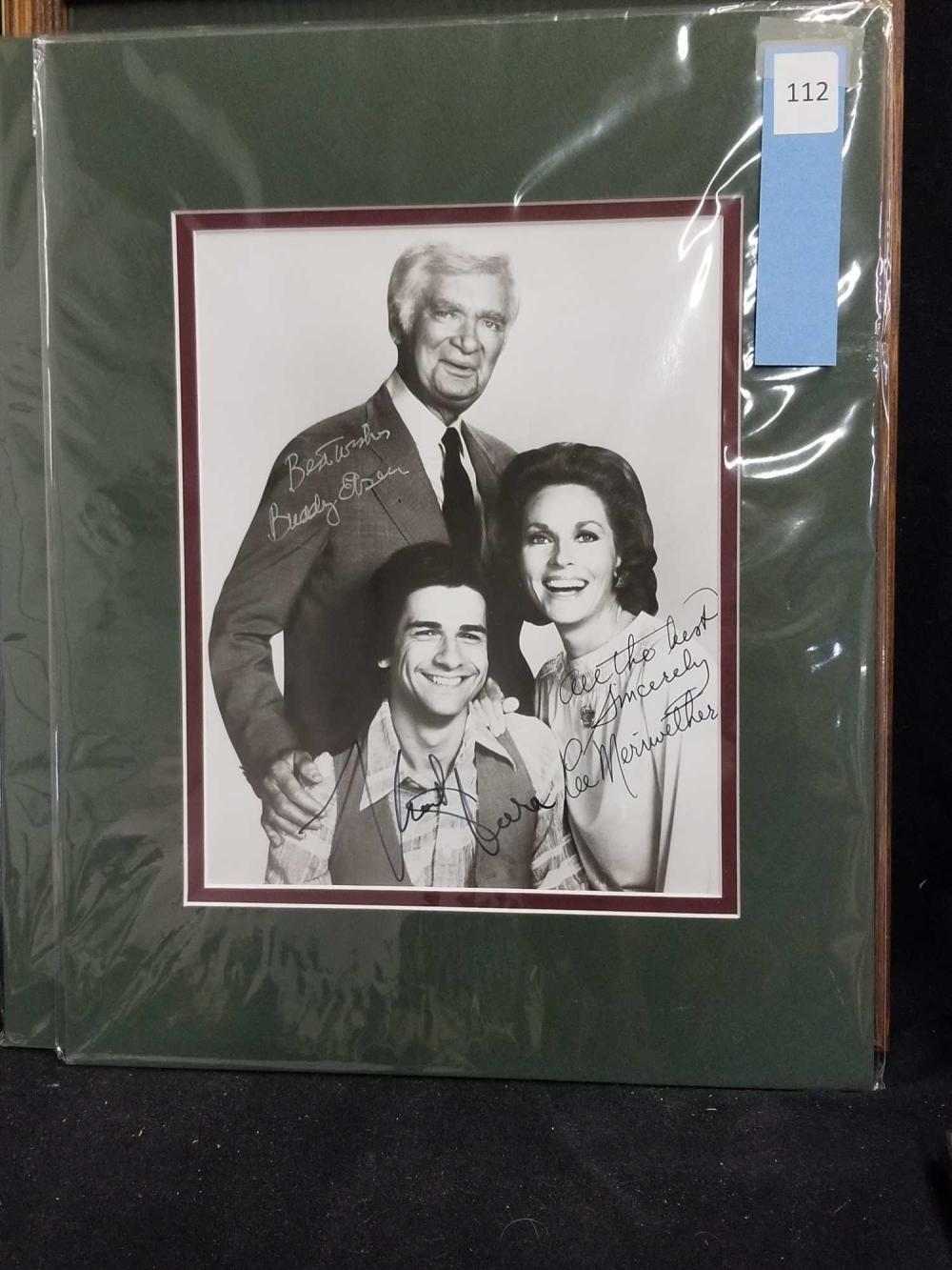 """BARNABY JONES"" CAST SIGNED BLACK & WHITE PHOTO"