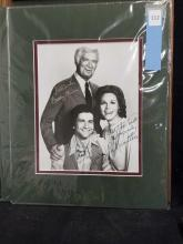 "Lot 112: ""BARNABY JONES"" CAST SIGNED BLACK & WHITE PHOTO"