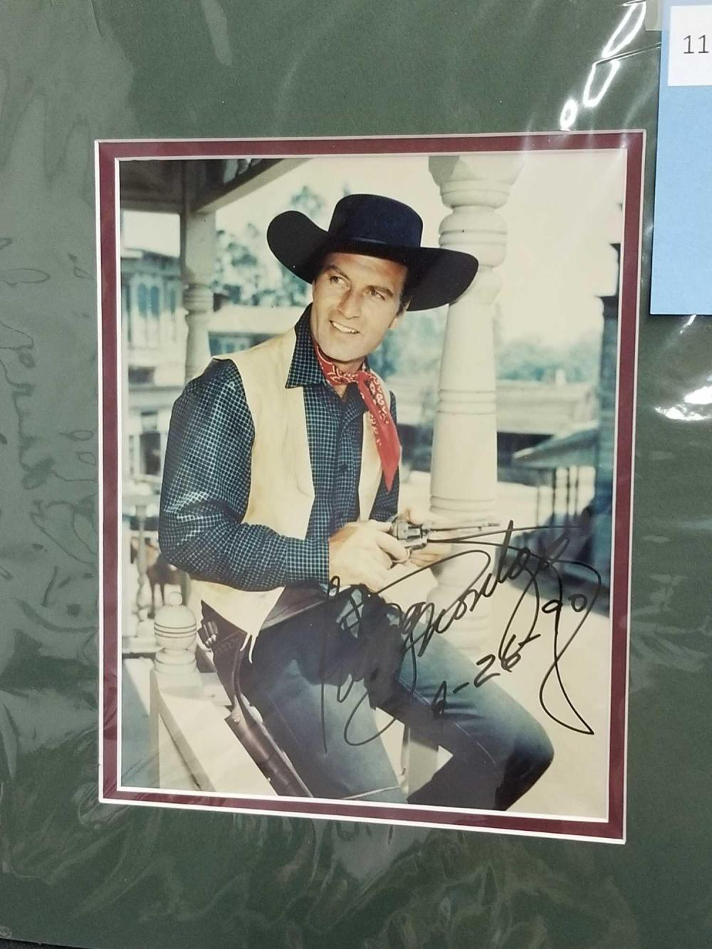 GEORGE MONTGOMERY SIGNED PUBLICITY COLOR PHOTO
