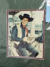 Lot 113: GEORGE MONTGOMERY SIGNED PUBLICITY COLOR PHOTO