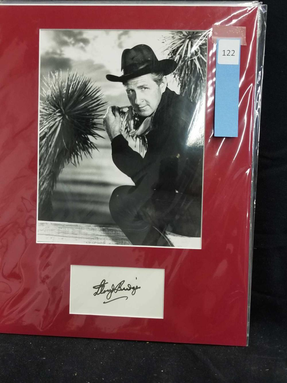 LLOYD BRIDGES WESTERN BLACK & WHITE PUBLICITY PHOTO W/ SIGNATURE CARD